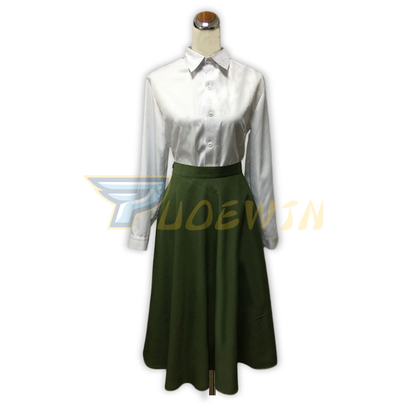 Anime Violet Evergarden Cosplay Women Cosplay Costume Japanese Anime White Shirt Green Skirt Custom Made