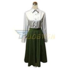 Anime Violet Evergarden Cosplay Women Costume Japanese White Shirt Green Skirt Custom Made