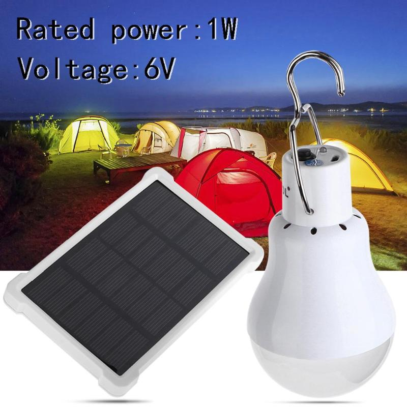 Hot Solar Powered Portable Led Bulb Lamp Solar Energy CampingTent Light Led Lighting Solar Panel Light Solar Camping Light