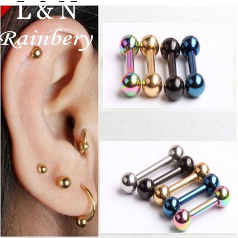 12 Pairs Hypoallergenic Ball Ear Studs Earrings Women Accessories 3//4 //5//6mm