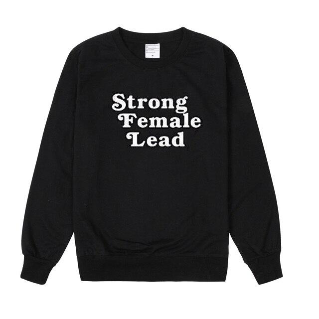 e4647f4ce Aliexpress.com : Buy vsenfo Strong Female Lead Crewneck Sweatshirt Women's  Sweatshirts Feminist tops harajuku tumblr Girl Power Sweatshirt sudadera ...