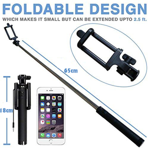 Image 5 - Ascromy Extendable Wired Handheld Selfie Stick Selfiestick 3.5mm Aux Cable Monopod For iPhone iOS Android Cell Phone Accessories
