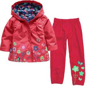 Image 3 - KEAIYOUHUO Autumn Winter Kids Clothes Windbreak Waterproof Boys Sets Raincoat Jackets+Pant Girls Sport Suit Children Clothing