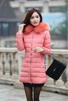 2018 quality winter jacket coat warm Long women parka Artificial false raccoon fur collar women Winter coat slim Female jacket