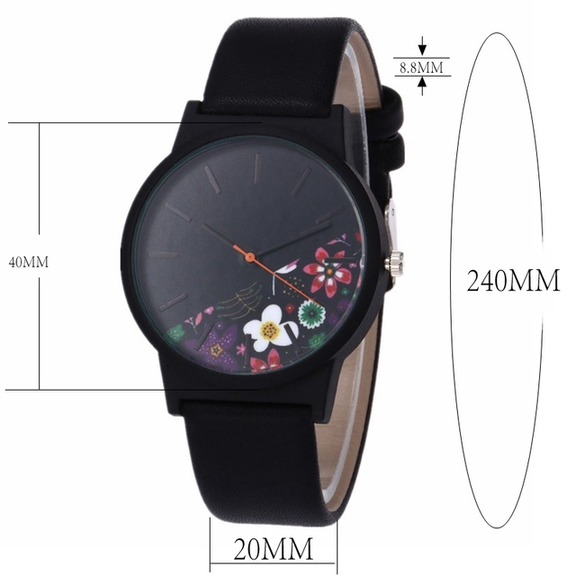 Cool Stuff New Vintage Leather Women Watches 2017 Luxury Top Brand Floral Pattern Casual Quartz Watch Women Clock Relogio Feminino 4