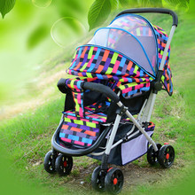 pram four-wheel baby stroller manufacturers selling European summer and winter buggies dual-purpose baby cartGive a mosquito net