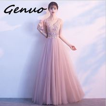 Genuo New sexy Women halter Maxi Dress women Sleeveless Summer Holiday Long Beach Vestidosfull dress robe Party Dresses 2019