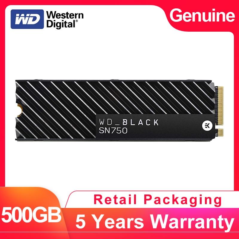 WESTERN DIGITAL WD BLACK SN750 3D NAND SSD 500GB M 2 2280 NVMe PCIe Gen3 4