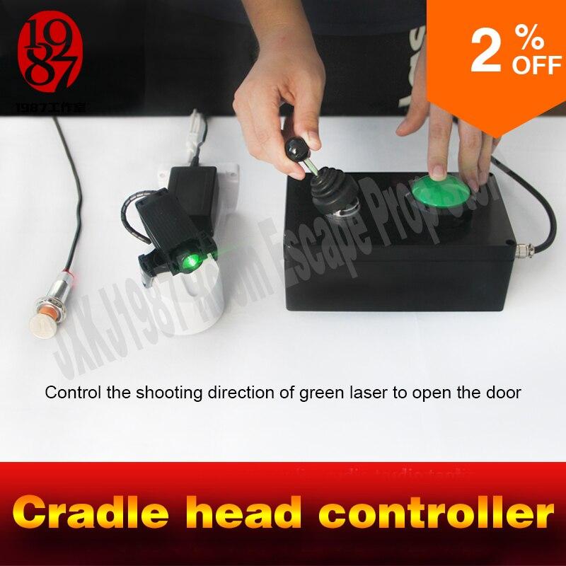 Sala escapar aventureiro adereços jogo berço cabeça controlador ajustar movendo lasers cadeado aberto para escapar da câmara takagismo