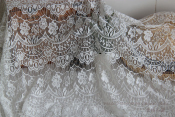 Free Shipping Gauze Eyelashes Lace  Fabric,Wedding Dress Fabric,150CM Width,XERY0214