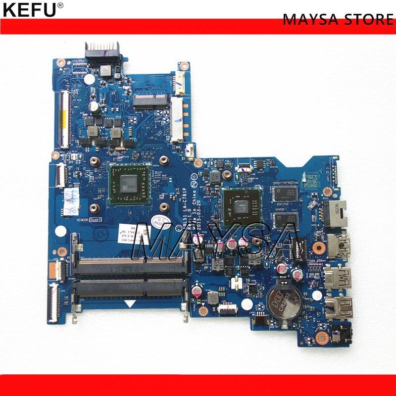 Carte Mère d'ordinateur portable Pour HP Notebook 15-AF Série ABL51 LA-C781P 813971-501 Avec A8-7410 CPU HD 8600 2 gb GPU