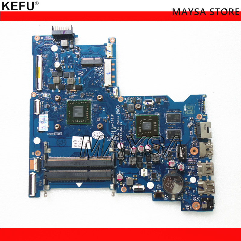 Laptop Motherboard For HP Notebook 15-AF Series ABL51 LA-C781P 813971-501 With A8-7410 CPU HD 8600 2GB GPU nokotion 814611 001 818074 001 for hp 15 af series laptop motherboard abl51 la c781p cpu onboard mainboard full test