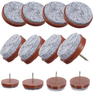 10 Pcs/lot Felt Nail Protectors High Quality 24mm Table Chair Feet Legs Glides Skid Tile Felt Pad Floor Nail Protector