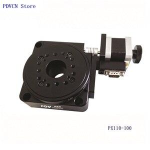 Image 3 - Étape rotative électrique PDV PX110 100, étape de Rotation motorisée, plate forme rotative électrique, bureau rotatif de précision