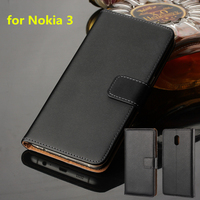 Premium Leather Flip Cover For Nokia 3 Luxury Wallet Case For Nokia 3 5 0 Inch