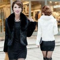 Faux fur jacket 2019 coat female short paragraph fox fur collar rabbit fur anti season lady fur coat imitation coat