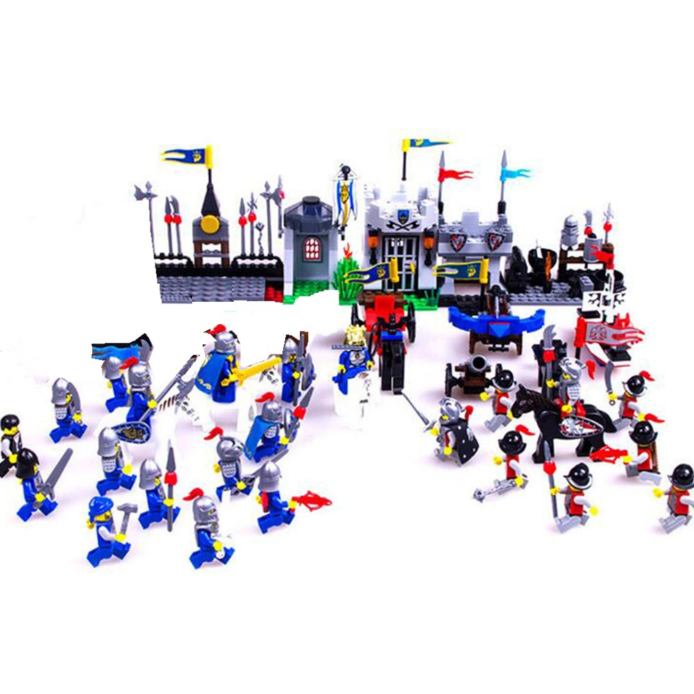 MTELE Brand 536 PCS Knight Series Lion King Castle 1010 Building Blocks Brick High Quality Toy Compatible with Lego castle and knight