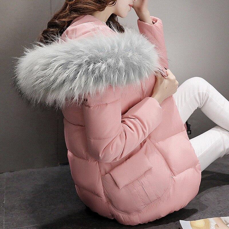 Осенние и зимние новые женские корейские модные большие волосы воротник хлопчатобумажная одежда женские короткие пальто зимняя куртка жен...