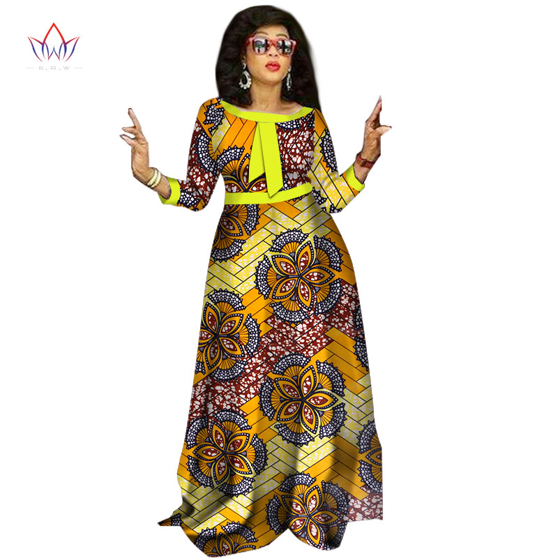 2017 afrikanske kjoler til damer Mote Design dashiki kvinner bazin - Nasjonale klær - Bilde 6