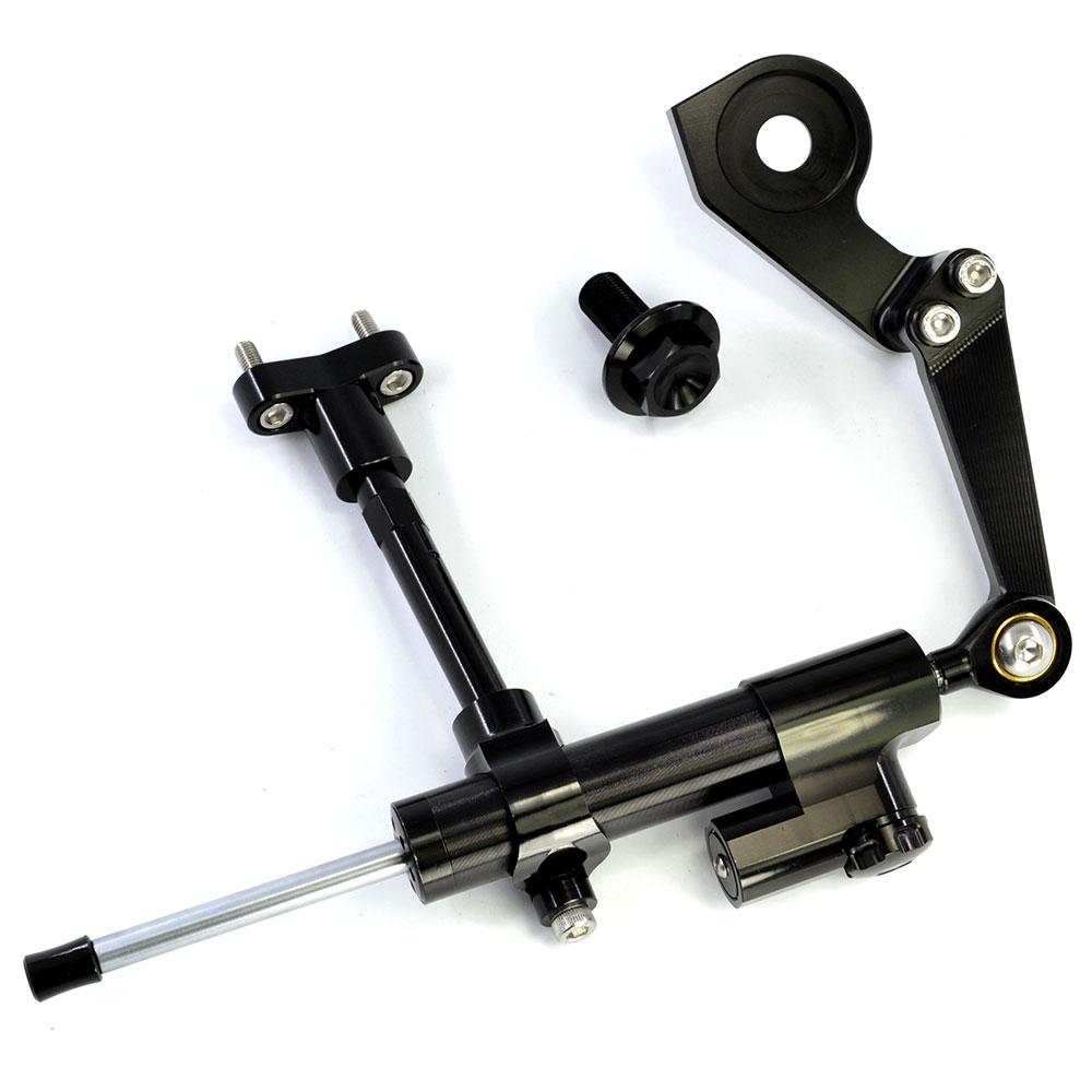 BJMOTO CNC en aluminium moto direction stabiliser amortisseur support Kit de montage pour Yamaha YZF R3 2015-2018 YZFR3 ABS 2017-2018