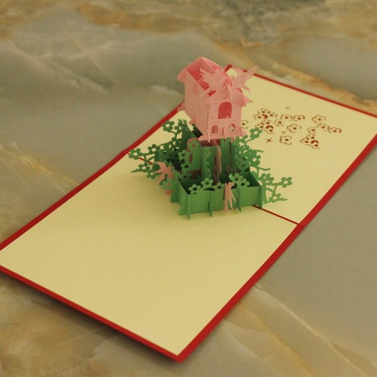 3d pop up bird and nest paper card postcards greeting card
