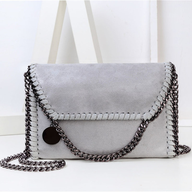 Fashion Womens Stella Design Chain Detail Cross Body Bag Ladies Shoulder bag clutch bag bolsa franja luxury evening bags