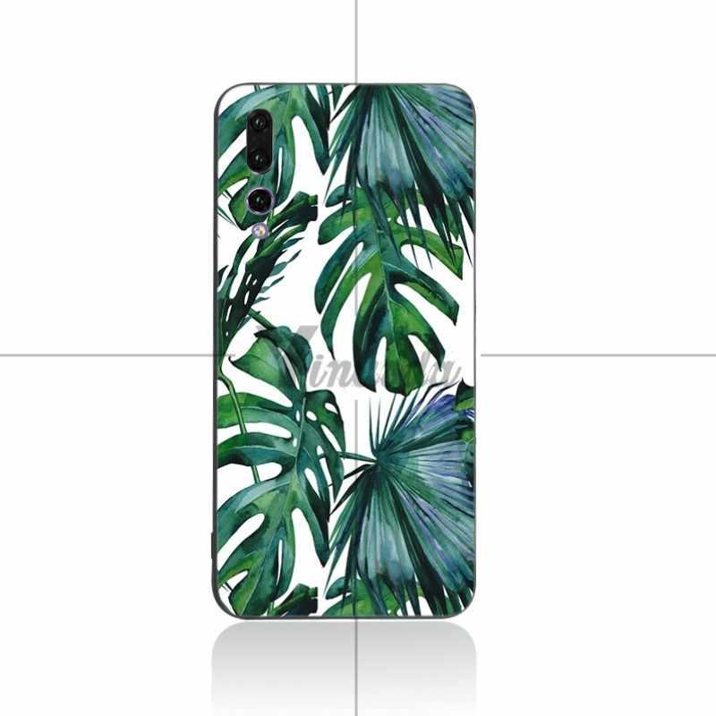Yinuoda Grote Blad Groene Mountainscape Coque Soft Cover Case Voor Huawei P9 P10 P10plus P20 P20pro NOVA2 Honor9 Honor10 V9 v10