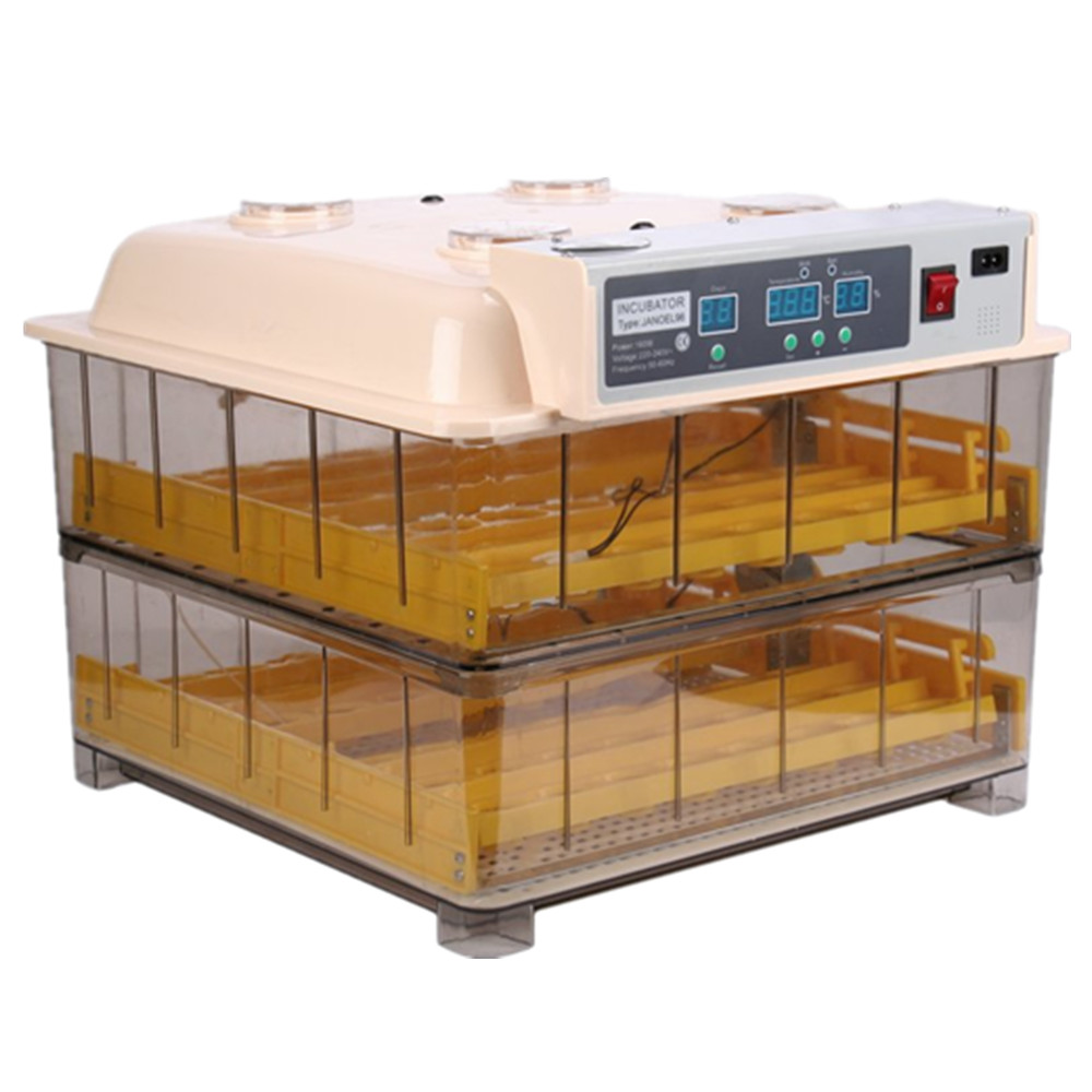 Full Automatic Egg Incubator Mini Industrial Brooder Hatchery Machine For Hatching 96 Chicken Duck Quail Eggs