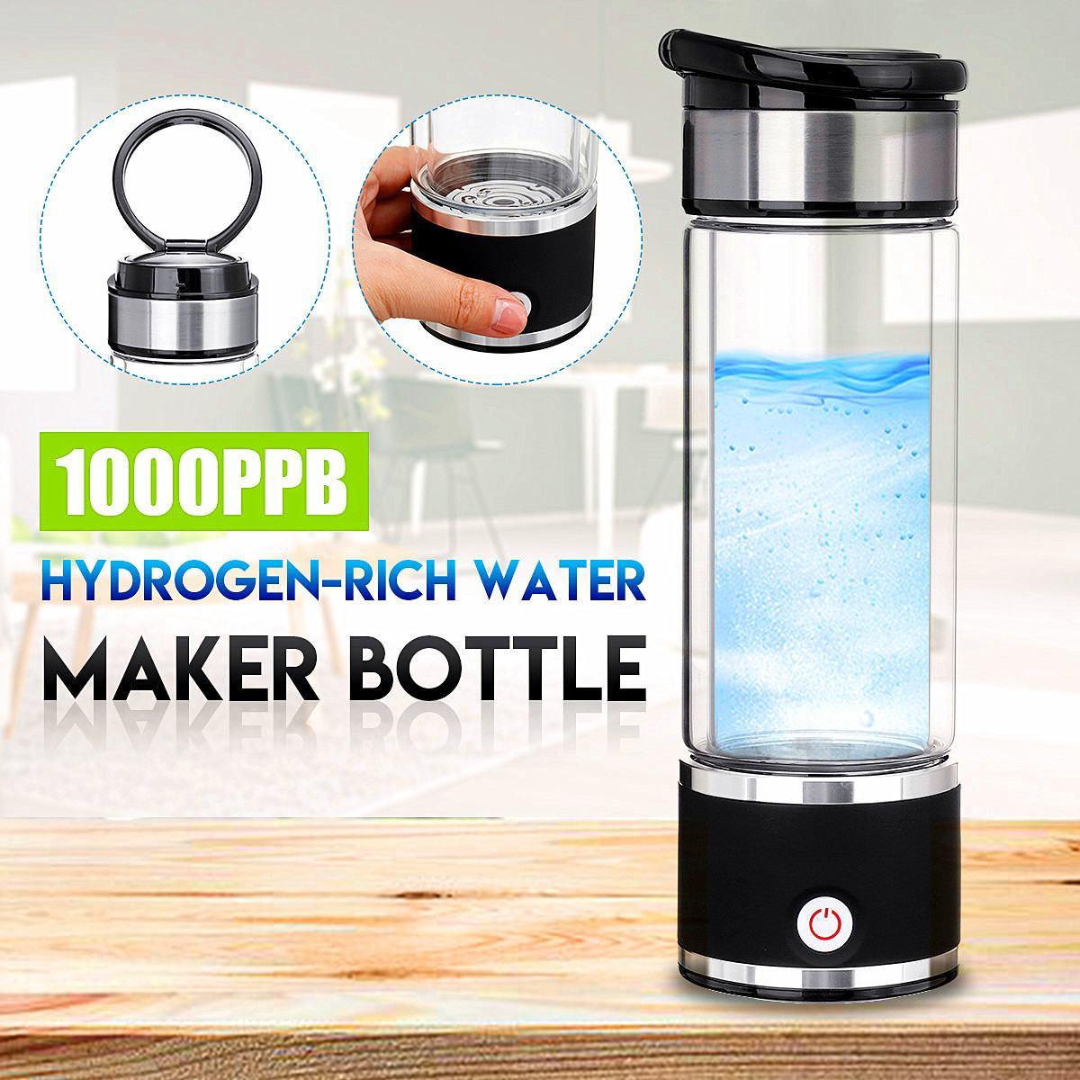 Newest 350ML Healthy Hydrogen-Rich Water Bottle Generator Household USB Rechargeable Hydrogen-Rich Super Antioxidants Lonizer