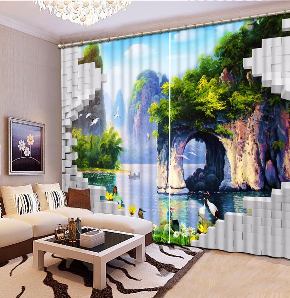 Photo Customize Size 3D Curtain Wall Tile Landscape