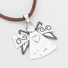 2 stücke Große Engel Mit Flügel Geschnitzte Herz Charms Anhänger Für DIY Halskette oder Armband Zubehör 62,5 x59mm