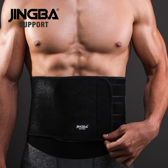 JINGBA SUPPORT Waist trimmer Support Slim fit Abdominal Waist sweat belt Sports Safety Back Support Sports protective gear 1