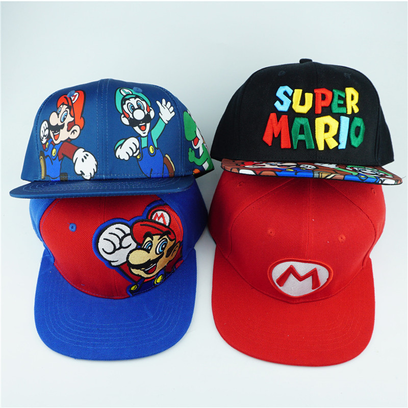 8842b1b61 US $9.49 |Game Super Mario Bros Hat Trucker Baseball Snapback Caps Hip Hop  Hats For Adult Boys Girls Cosplay Cap Gift-in Boys Costume Accessories from  ...