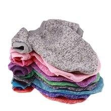 Теплая одежда для собак, зимний мягкий хлопковый свитер, однотонная одежда, пальто для щенка для маленьких собак, чихуахуа, Рождественский костюм для домашних животных
