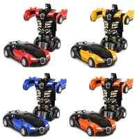 Transformation jouet voiture Collision transformant Robot modèle voiture jouet Mini déformation voiture inertielle jouet meilleur pour enfants garçon cadeau