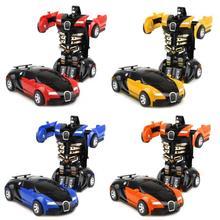Dönüşüm oyuncak araba çarpışma dönüşümü Robot Model araba oyuncak Mini deformasyon araba atalet oyuncak çocuklar için en iyi çocuk hediye