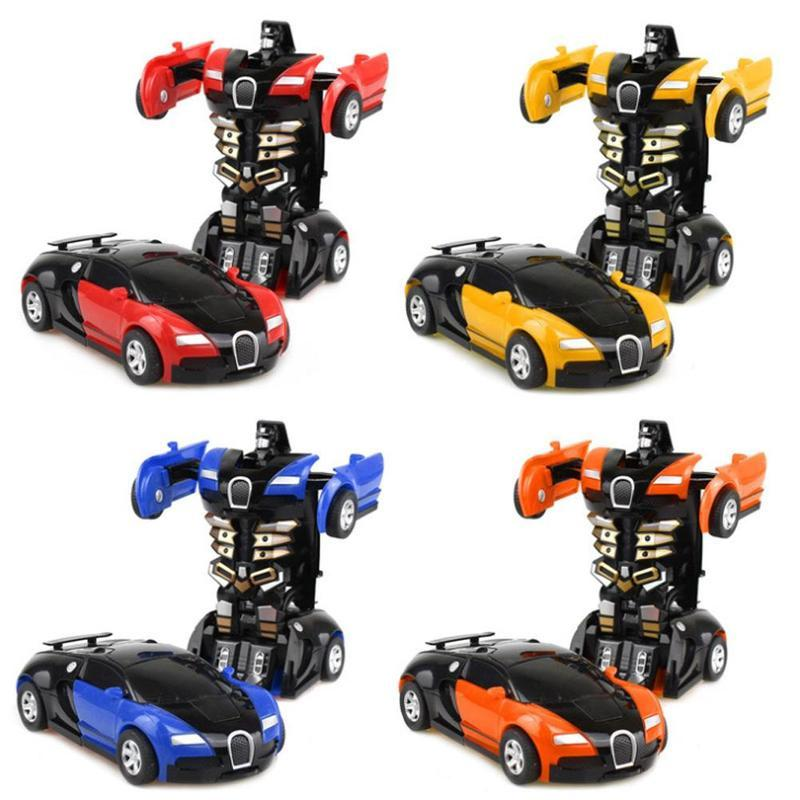 Transformation Toy Car Collision Transforming Robot Model Car Toy Mini Deformation Car Inertial Toy Best For Kids Boy Gift