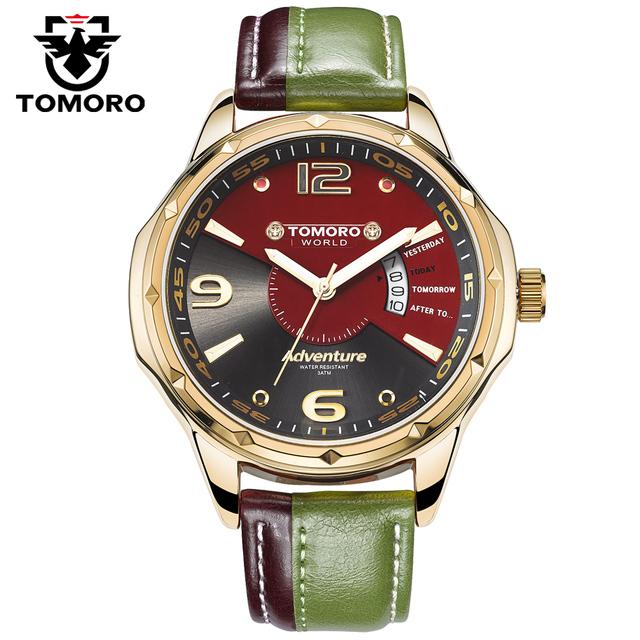 Famosa marca De Luxo Homens Originais Desgin Relógio lazer Moda Vestido de Quartzo Horas de Relógio de couro de Negócios Masculino Relogio masculino