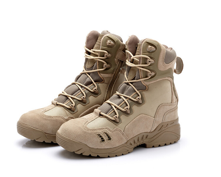 Summer Style Military Tactical Outdoor Sport Army Men Boots Desert Botas Hiking Autumn Shoes Travel Leather High Male - KK Trading Co., Ltd store