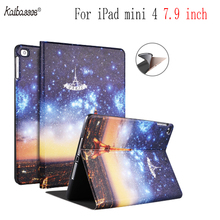 Buy Tablet Smart Case Soft Silicone Print Pattern Cover for iPad mini 4 7.9 inch A1538 A1550 directly from merchant!