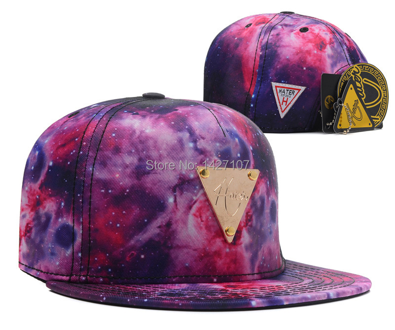 Brand New Hip Hop Adjustable Leather Galaxy Hater Snapback Caps ... 3a6e506478f8