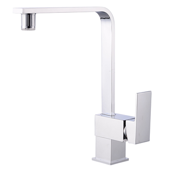 Kitchen all-copper faucet creative led kitchen sink square discoloration with lamp water tap wx51013444