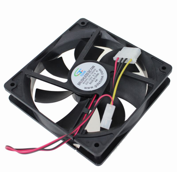 5pcs 12025 4Pin 12v DC Motor Computer Case 120x120x25mm 120mm Cooler Fan in Fans Cooling from Computer Office