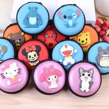 High quality In Ear Earphone Cartoon Box Headphones Portable Storage Case Bag Headphone Accessories Headset Storage Bag