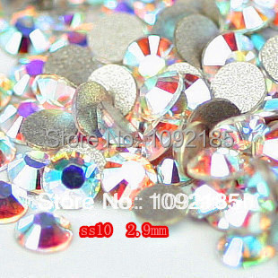 2014 stones and crystals free shipping ! aaa+ ss10 1440pcs/pack 2.8-2.9mm crystal ab rhinestone flat back flatback rhinestones cvco55cc 2280 2380 crystals and oscillators mr li