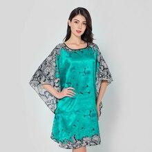 7c336adf3 Sexy Black Chinese Women Silk Rayon Nightgown Wedding Bridesmaids Robe  Sleepwear Kimono Bath Dress Gown Mujuer