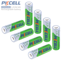 8pcs Pkcell 1 2V 2000mAh AA Battery Ni Mh NiMh AA Rechargeable Battery With LSD Support