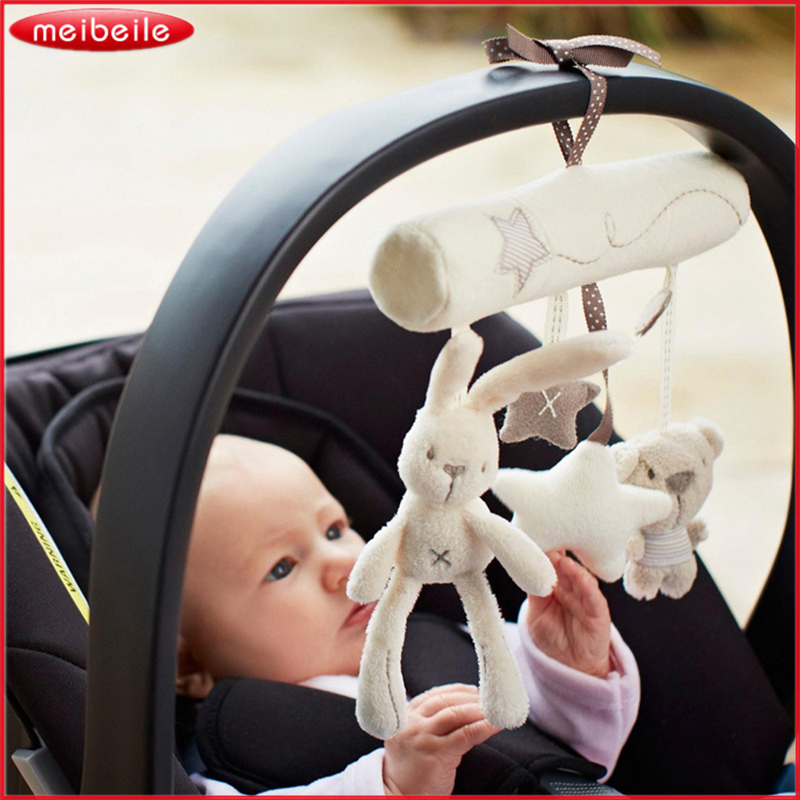 ᑐAsiento de seguridad de Mano de peluche de juguete conejo de la ...