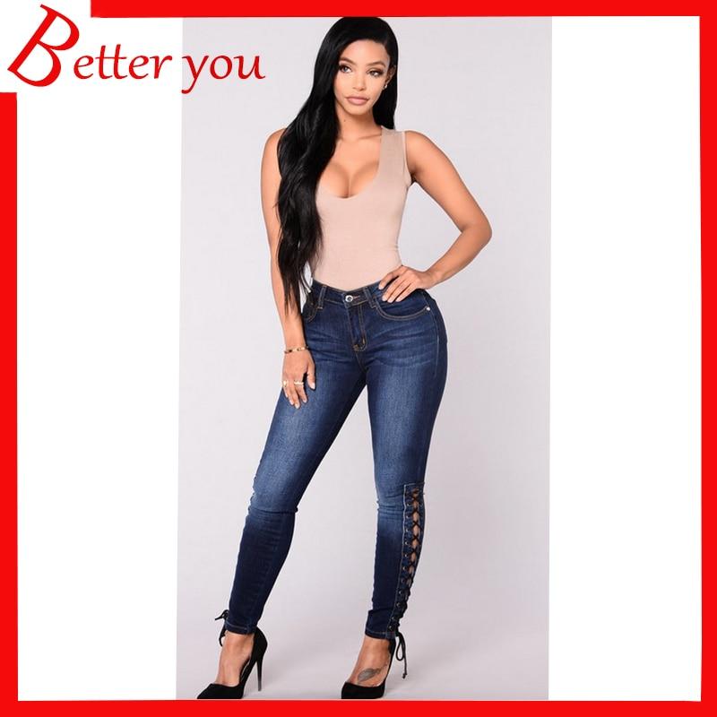 New Spring Summer Woman skinny jeans Denim elastic stretch thin pencil pants high waist