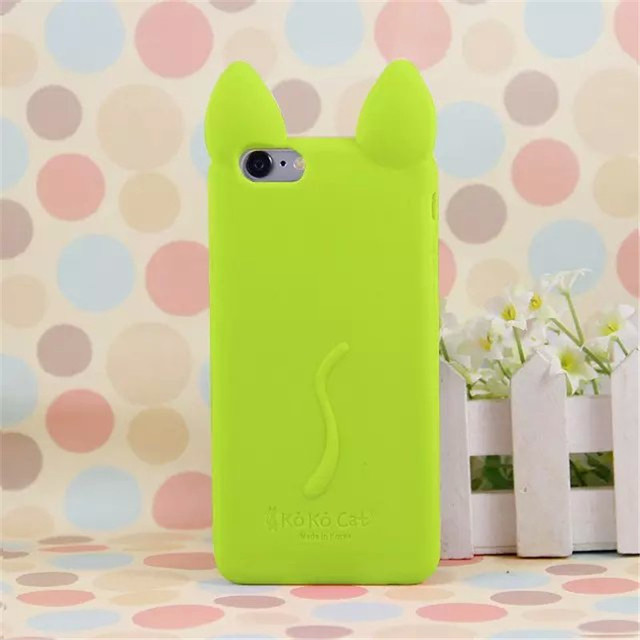 Cute Cat Ears Silicone Case For Iphone 5, 5s, SE